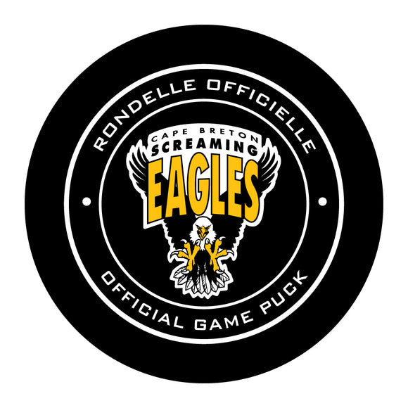 Cape Breton Screaming Eagles Hockey Puck
