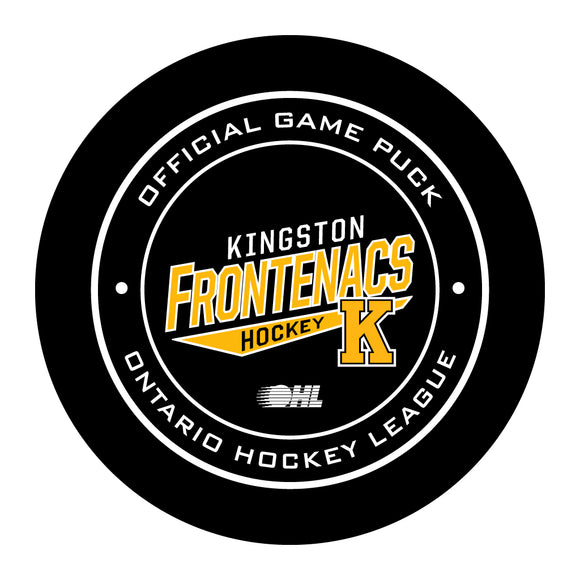 Kingston Frontenacs Hockey Puck