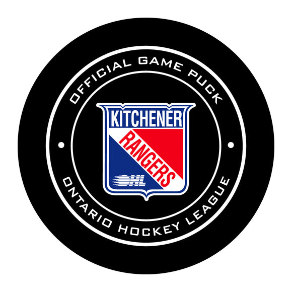 Kitchener Rangers Hockey Puck