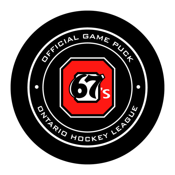 Ottawa 67's Hockey Puck