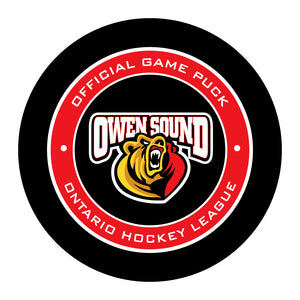 Owen Sound Attack Hockey Puck #2