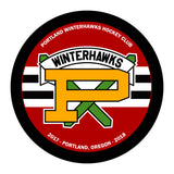 Portland Winterhawks Hockey Puck