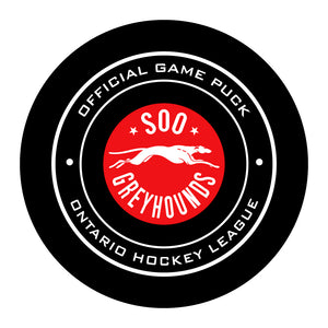 SOO Greyhounds Hockey Puck