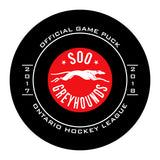 SOO Greyhounds Hockey Puck #2