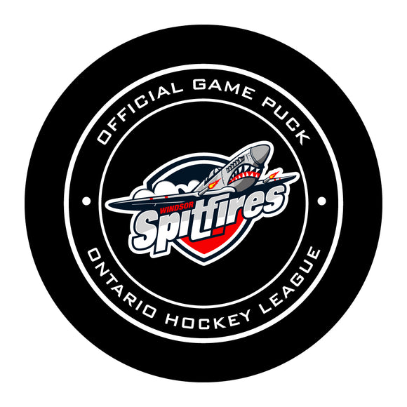 Windsor Spitfires Hockey Puck