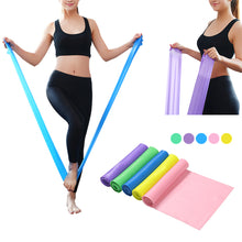 Gym Equipment 1.5M Yoga Pilates Rubber Stretch Strap Yoga Resistance Bands Elastic Sports Bands Exercise Strap Fitness