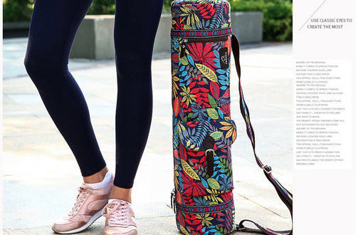 {NEW 2018} Women Yoga Mat Bag Print Style Canvas Large Capacity Waterproof Fitness Backpack *Soul Edition Collection*