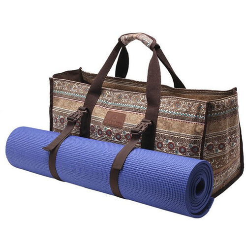 {NEW 2018} Canvas Yoga Mat Bag British Style Big Space Waterproof Fitness Handbags