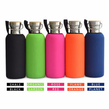 [NEW 2018] 1000mL BPA Free Stainless Steel Water Bottle Bamboo Cap Sports Flask Tumbler with Neoprene Cover for Yoga Travel