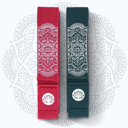 [NEW 2018] Mandara Organic Cotton Yoga Practice Strap 250cm*4.2cm*2mm