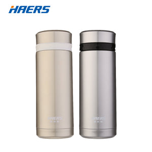 [NEW 2018] Haers 380ml Thermos Bottle With Lid Double Wall Hot & Cold For Cycling Gym Yoga Vacuum Flask *Soul Edition*