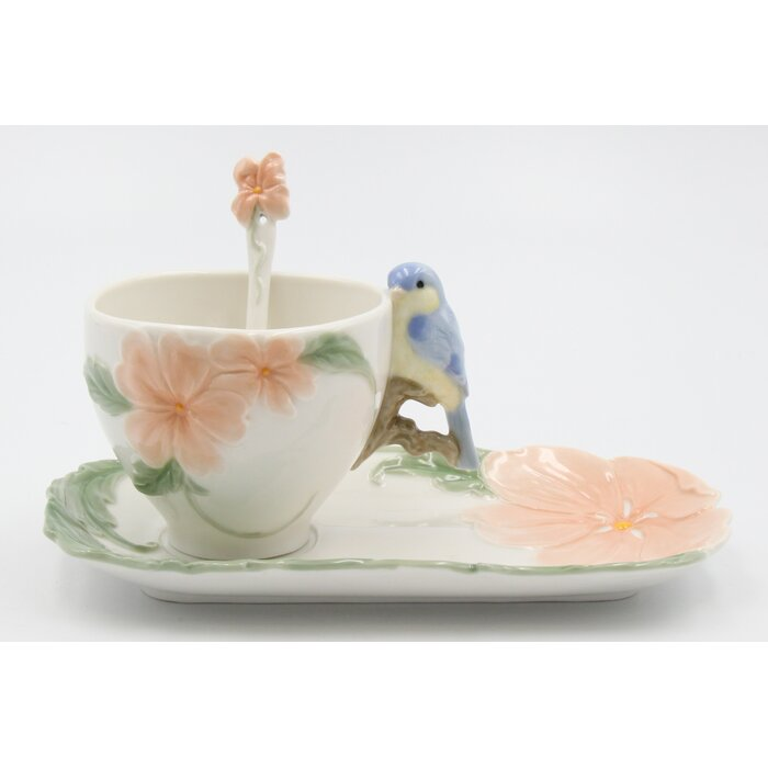 Sweet Birdie - Cup, Plate and Spoon Set