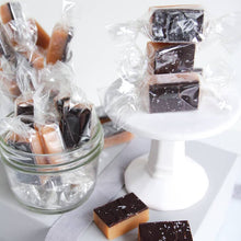 Load image into Gallery viewer, Dark Chocolate Sea Salt Caramels - 10 Piece Box