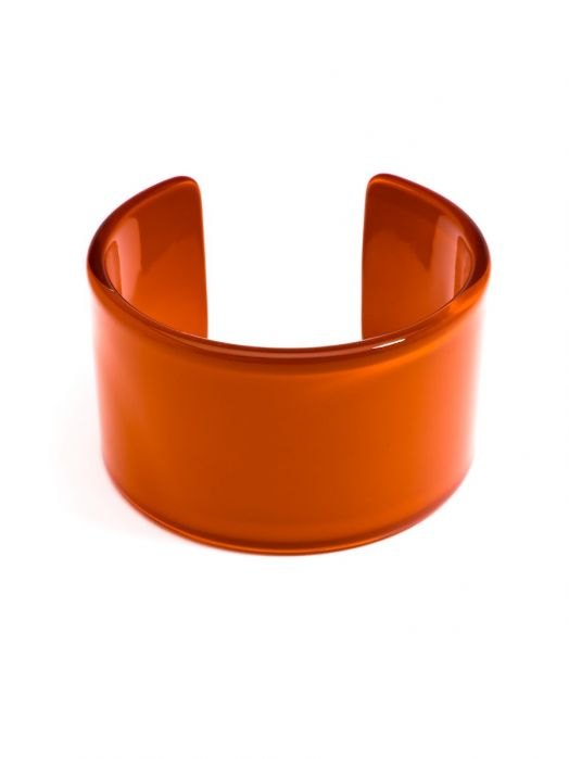 Wide Cuff Resin Bracelet - orange