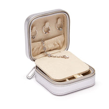Load image into Gallery viewer, Compact Jewelry Travel Case - Silver