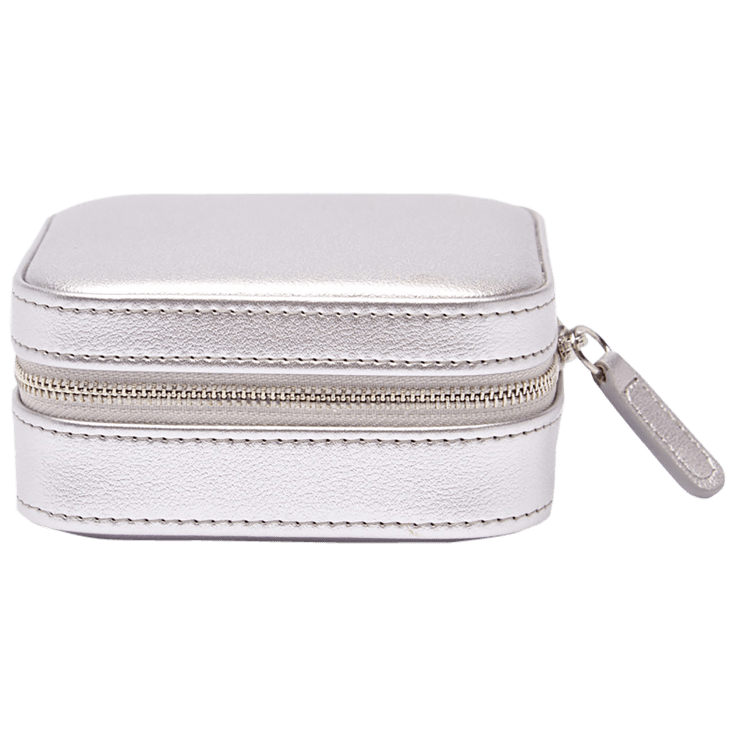 Compact Jewelry Travel Case - Silver