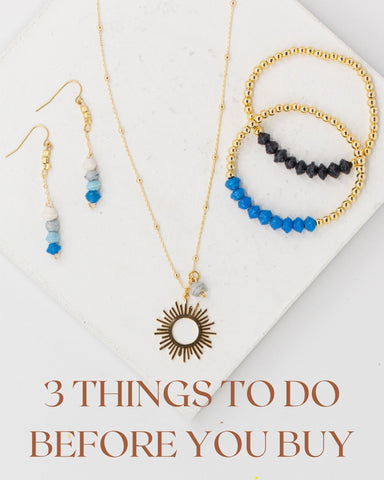BUY, ethical, hand made jewelry, things to do before you buy