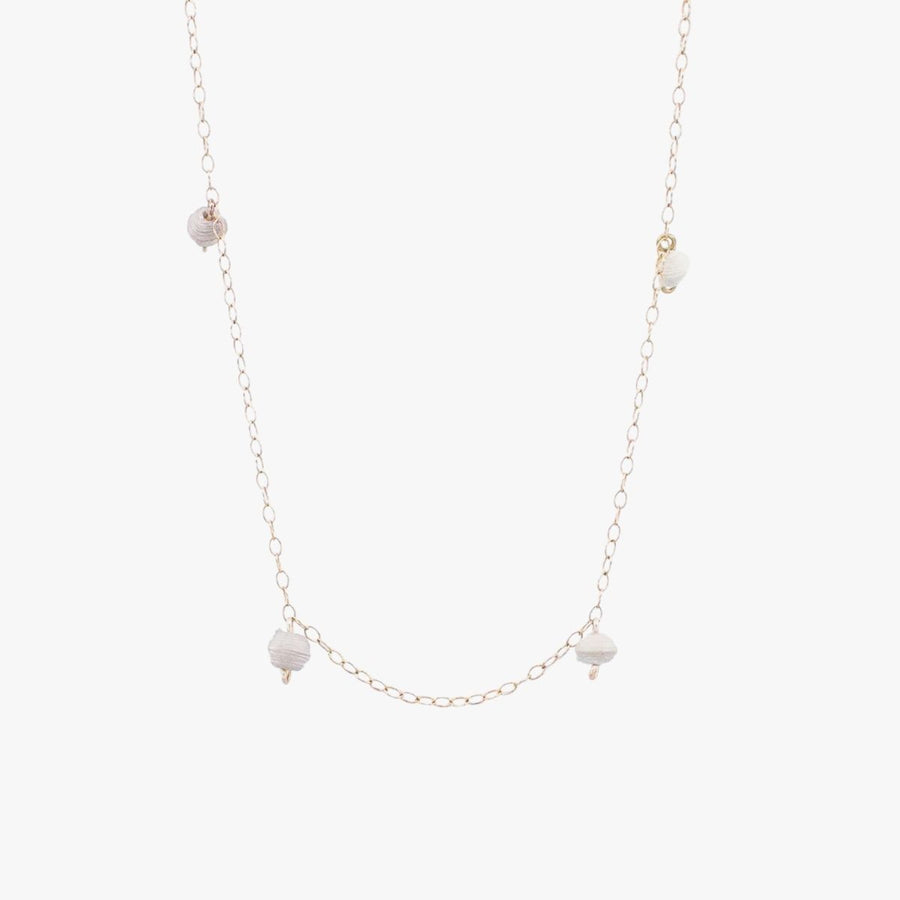 The Neima Tiny Bead Drop Necklace