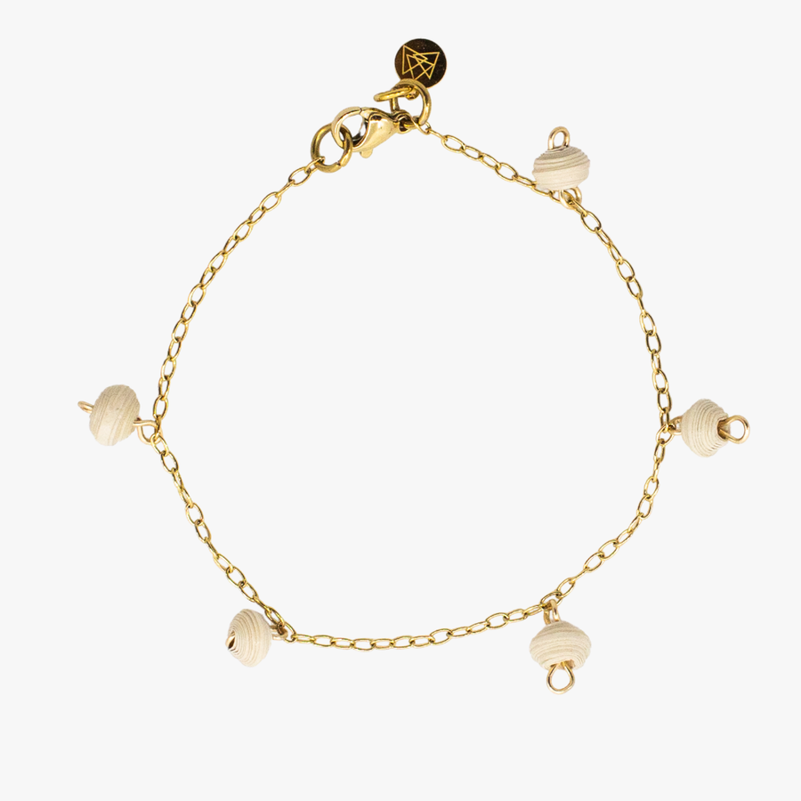 The Neima Tiny Bead Drop Bracelet