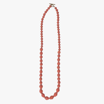 The Amore Necklace: bluestone handmade paper bead necklace by artisans in the Horn of Africa