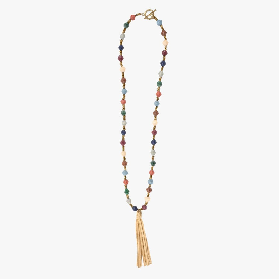 The Classic Necklace: multi-colored handmade paper bead necklace by artisans in the Horn of Africa. Sustainable, Artisan-Made And Ethically Sourced