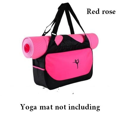 Multi-function yoga backpack Yoga bag gym mat bag Waterproof Yoga Pilate Mat Case Bag Carriers for 6-10mm Yoga mat not including - yogastoreefw