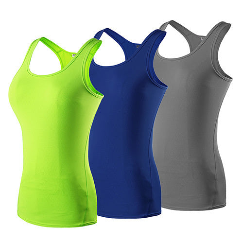 Yuerlian US Local Delivery 3 PCS Sport Yoga Shirt Sleeveless Sportswear Blouses Running Vest Workout Crop Top Female T-shirt - yogastoreefw