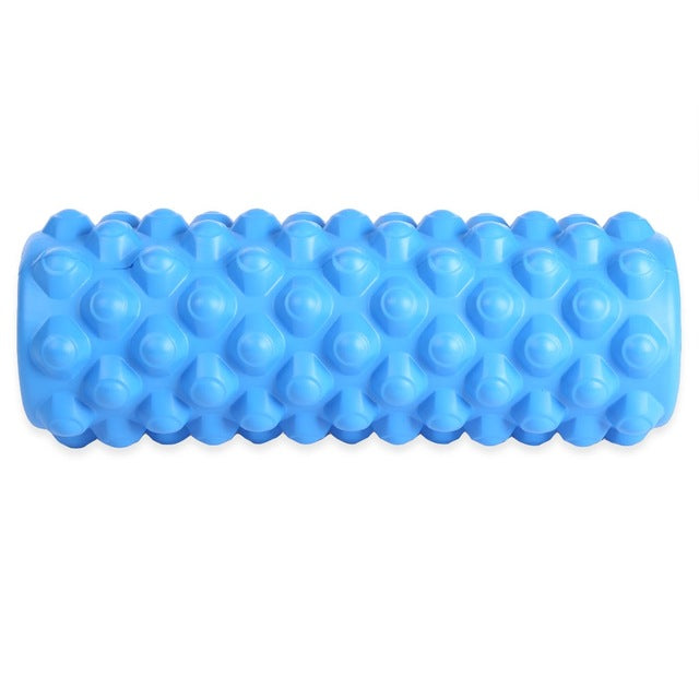 Free Shipping 35*13CM Yoga Pilates Column Roller with Grid Trigger Point Fitness Physiotherapy Rehabilitation - yogastoreefw
