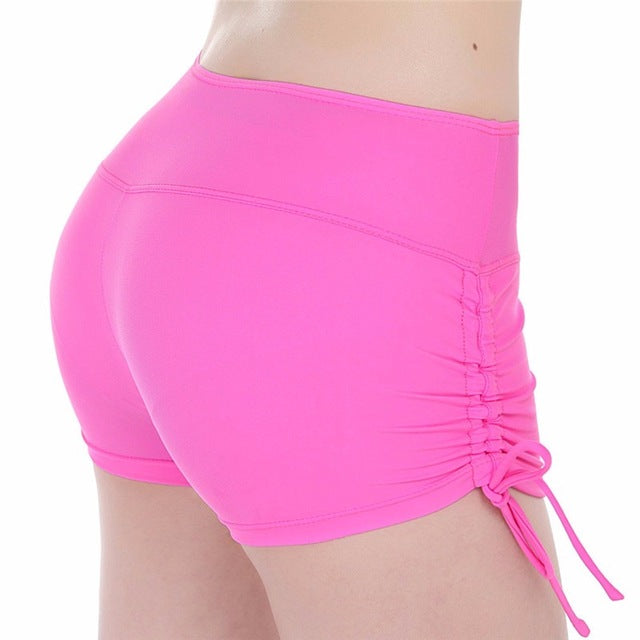 Women Yoga Shorts Quick Dry Breathable Sports Running Fitness Drawstring Beach Shorts Swimming yoga pantalon corto Y048 - yogastoreefw