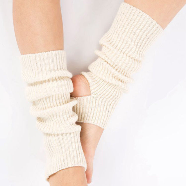 Woman Yoga Socks Gym Fitness Dancing Female Daily Wear Exercising Keep Warm Latin Dance Long Section Knitting Walking SCL051 - yogastoreefw