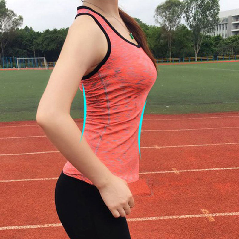 Women Breathable Gym Fitness Tights Yoga Tank Top Sport Running Vests Ladies ropa deportiva Gym Sleeveless Red Yoga Shirt - yogastoreefw