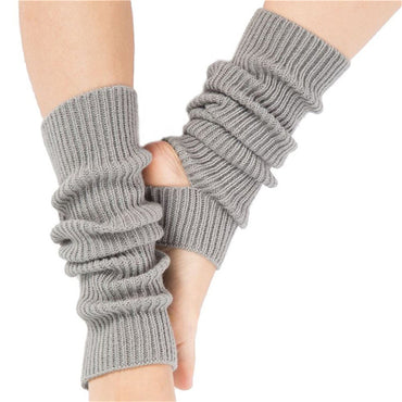 Woman Girls Professional Yoga Socks - Female Calf Knitted Leg Warmers Boot Cover for Gym Fitness Dance Pilates Ballet Exercising - yogastoreefw