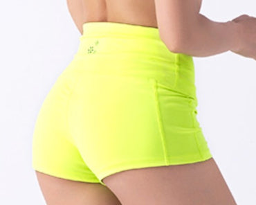 "Women 4"" Wide Waistband Sexy Hot Shorts Yoga Shorts Running Short Sports Clothing Training Fitness Bottom Sportswear High Waist - yogastoreefw"