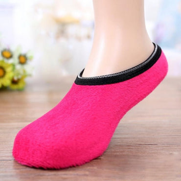 Women Yoga Sports Socks Unisex Household Slipper Non-Slip Fleece Gripper Slippers Socks - yogastoreefw
