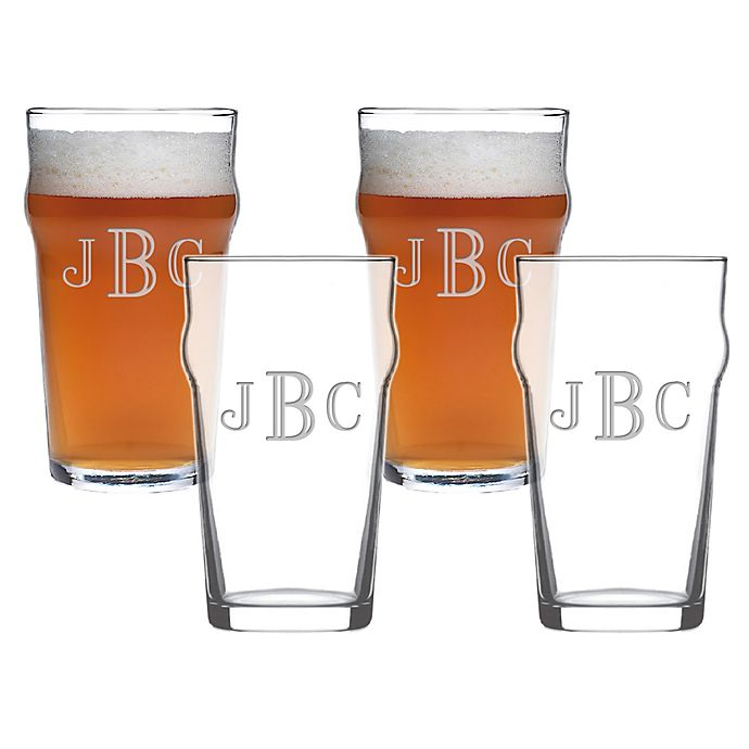 Personalized Pub Glasses - Set of 4