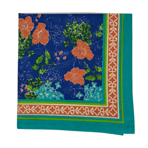 Impatiens Block Print Napkins - Set of 4