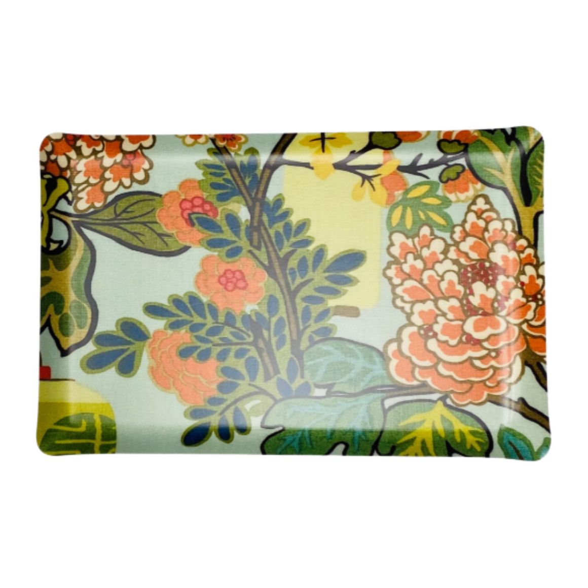 Chiang Mai Dragon Acqua Fabric Laminated Serving Tray