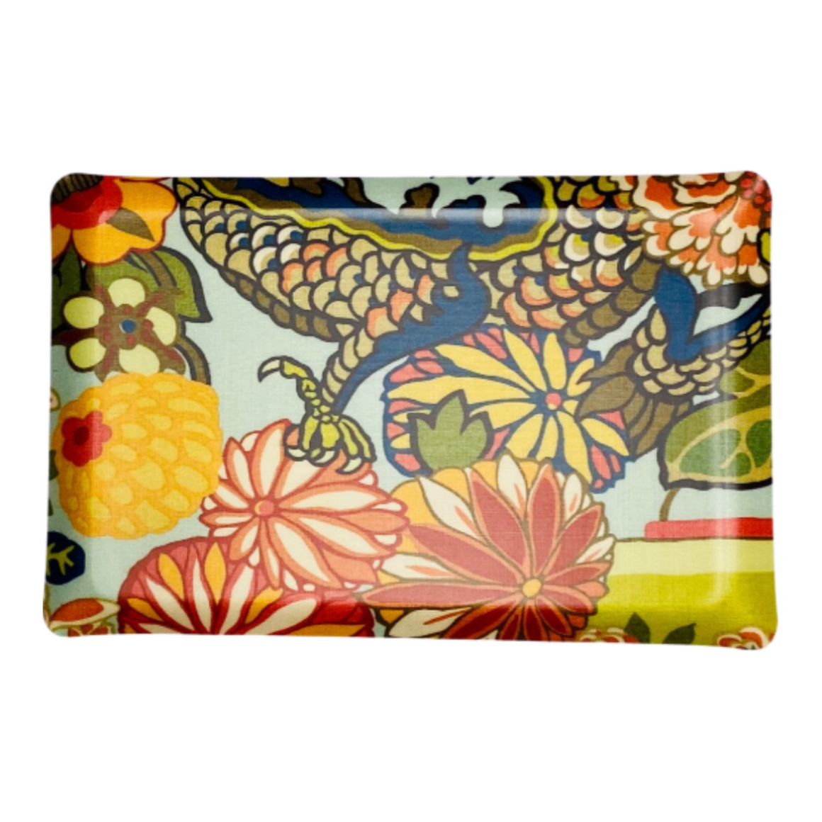 Copy of Chiang Mai Dragon Acqua Fabric Laminated Serving Tray