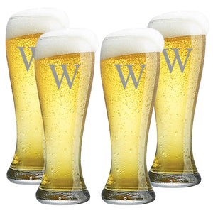 PERSONALIZED PILSNER GLASS: SET OF 4