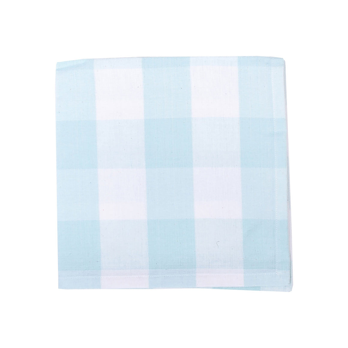 Set of 4 Sky Blue and White Buffalo Check Napkins