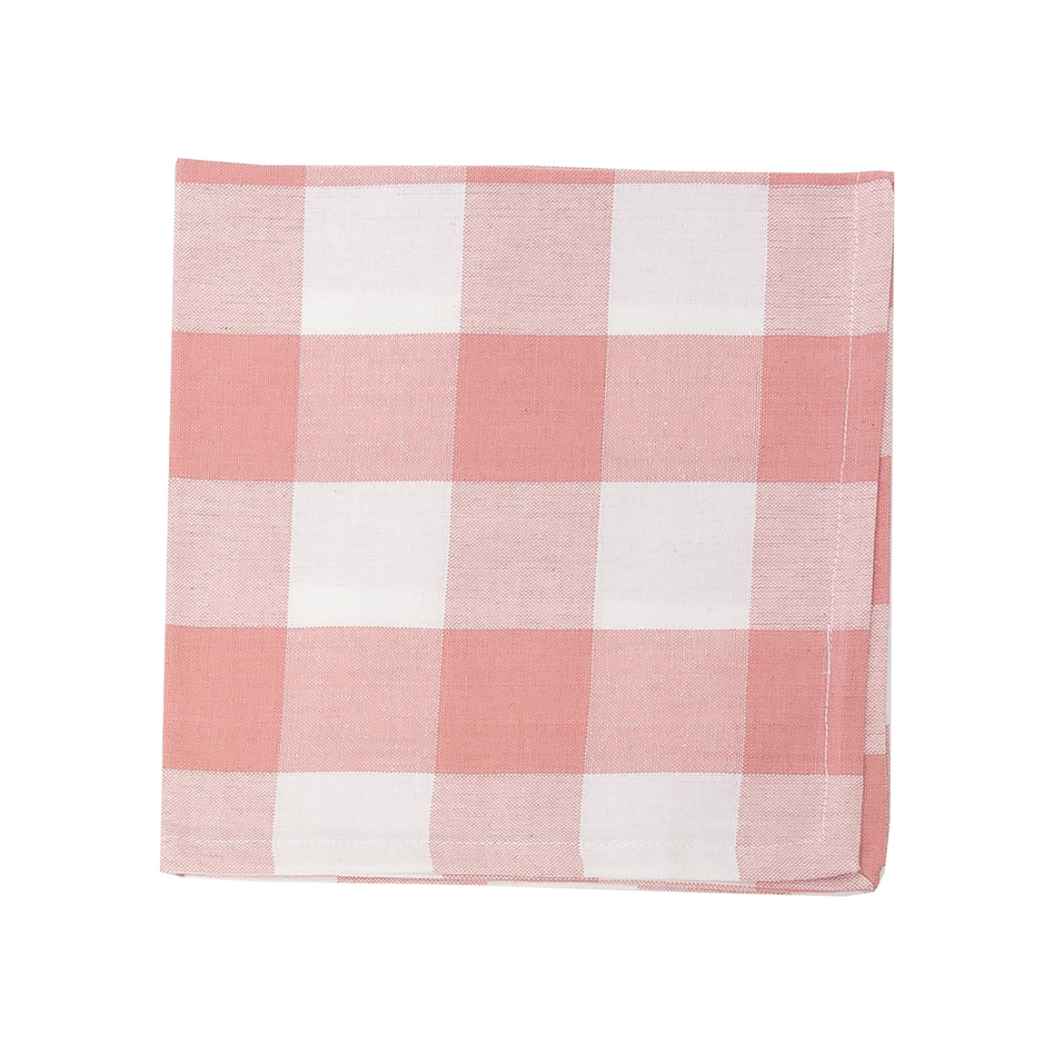 Peony Pink and White Buffalo Check Napkins - Set of 4