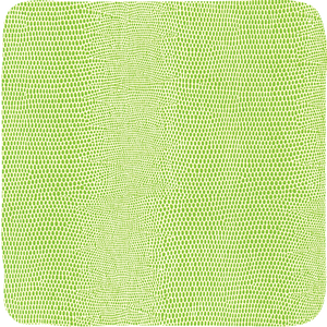 Green Lizard Felt Backed Coasters - Set of 8