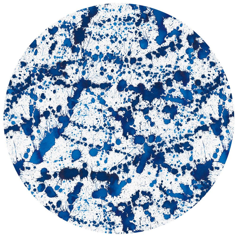 Round Splatterware Faux Leather Felt-Backed