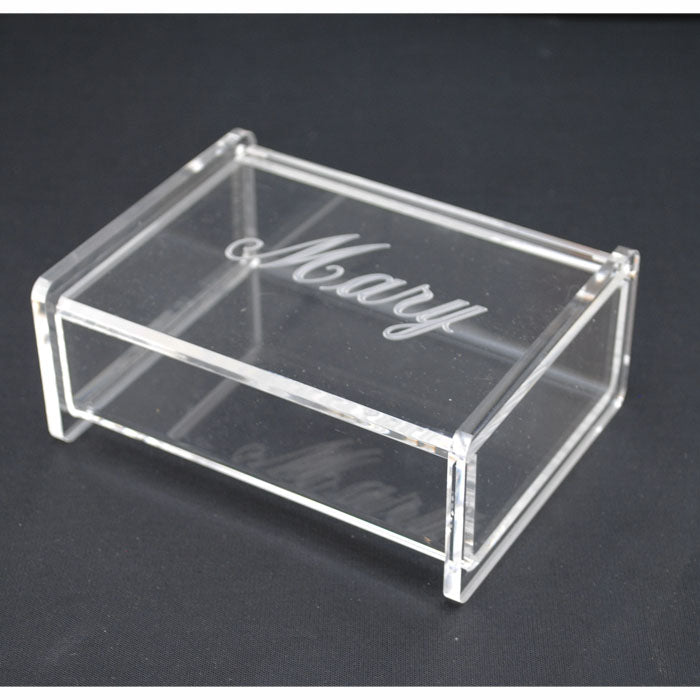 Acrylic Monogrammed Catch All Jewelry Box