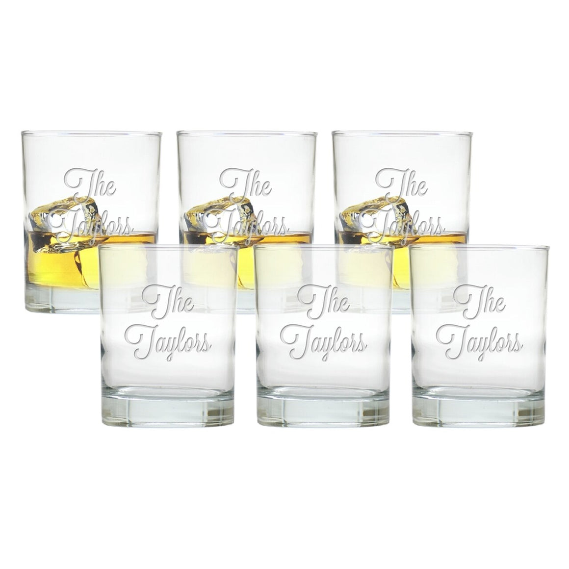 personalized monogrammed barware glassware double old fashioned