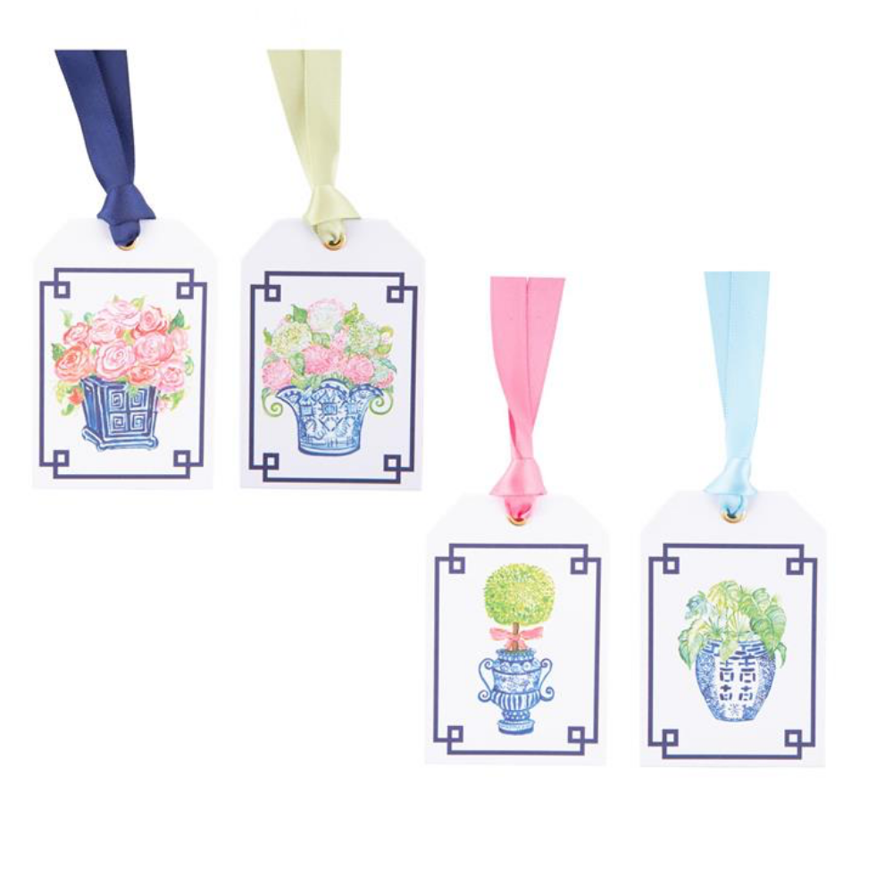Topiary Gift Tags with Satin Ribbons - 8 per packag