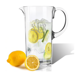 This simple yet stylish Personalized Monogrammed  55 oz Pitcher is a great choice for everyday drinkware. Our unbreakable drinkware is dishwasher and freezer safe and temperature resistant up to boiling point, made in USA, and BPA FREE!