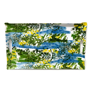 Vera for Schumacher Laminated Fabric Mini Butler Tray