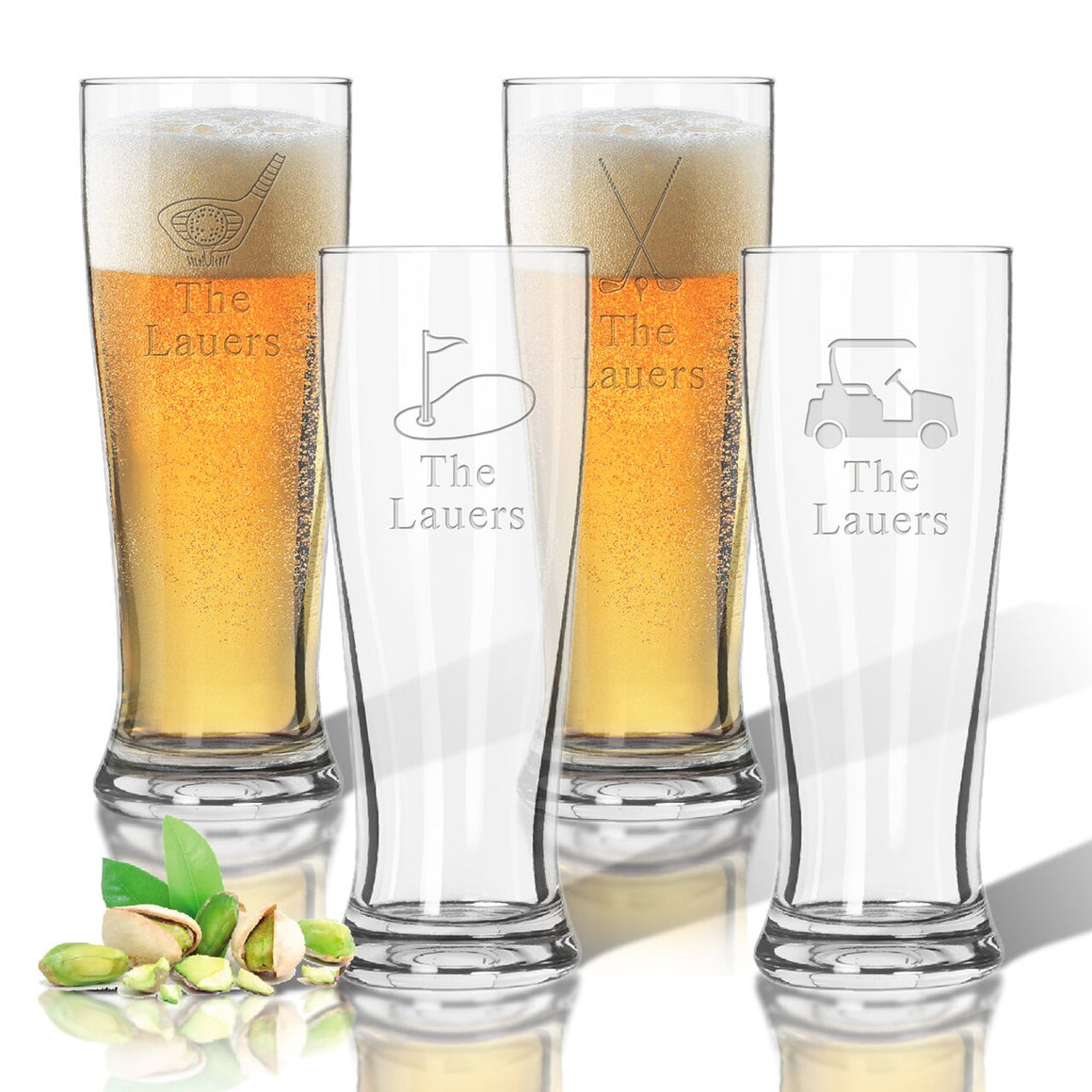 Tritan Pilsner 14 oz (Set of 4): Golf with name