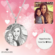 Personalized Mom & Kid Vintage Photo Necklace
